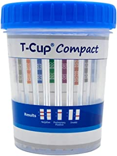 Prime Screen-5 Panel Multi Drug Urine Test Compact Cup (AMP,COC,mAMP/MET,OPI,THC) T-Cup -[1 Pack]-CDOA-254
