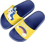 Boys Girls Slide Sandals Kids Outdoor Beach Pool Sandal Soft Unicorn Bath Slippers (Toddler/Little Kid) Yellow...