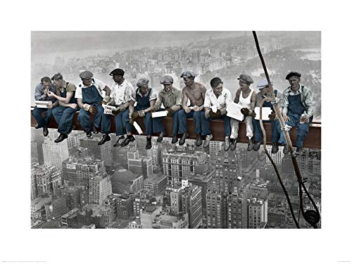 1art1 New York - Lunch ATOP A Skyscraper, Farbe Poster Kunstdruck 80 x 60 cm