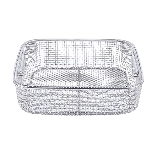 Stainless Steel Disinfection Basket Instrument Basket Cleaning Basket Fine Mesh Cleaner Small Parts Holder Universal Cleaning Basket