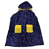 Chubasquero portátil infantil Un poncho con capucha y mangas