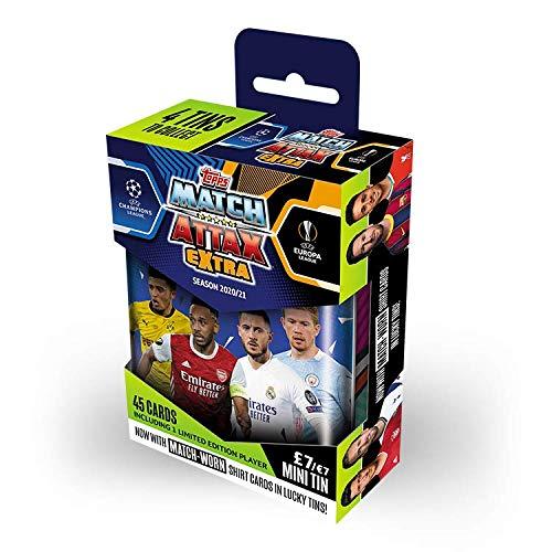 Topps Match Attax Extra 2021 UEFA Champions League - Mini-Sammeldose Blau