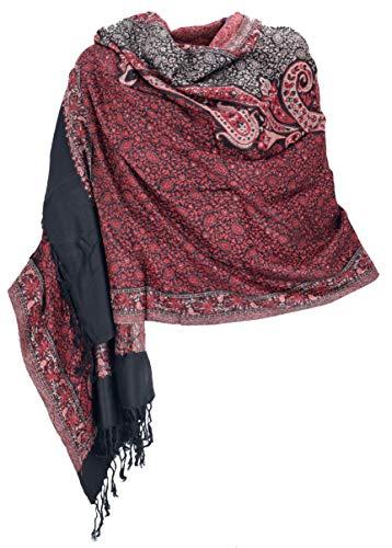 Guru-Shop Indischer Schal, Stola mit Paislay Muster, Schultertuch, Herren/Damen, Motiv 3, Synthetisch, Size:One Size, 180x70 cm, Schals Alternative Bekleidung