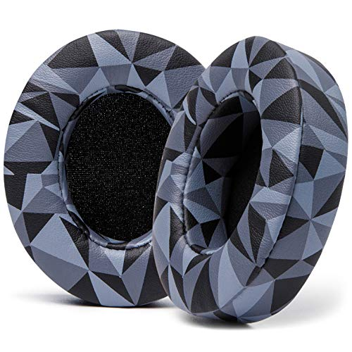 WC Wicked Cushions Replacement Ear Pads for Beats Studio 2 & 3 (B0501, B0500) Wired & Wireless | Does NOT Fit Beats Solo | Softer PU Leather, Enhanced Foam & Stronger Adhesive | Geo Grey