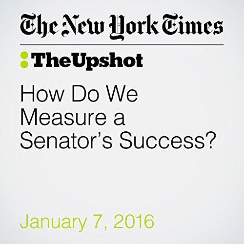 How Do We Measure a Senator's Success? audiobook cover art