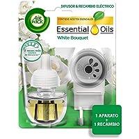 Air Wick Eléctrico - Recambios de ambientador, esencia para casa con aroma a white bouquet, pack de 1 aparato y 1 recambio