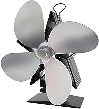 Amuzocity Ventilador De 4 Palas Estufa De Calor Ventilador Ventilador - Plata, tal como se describe