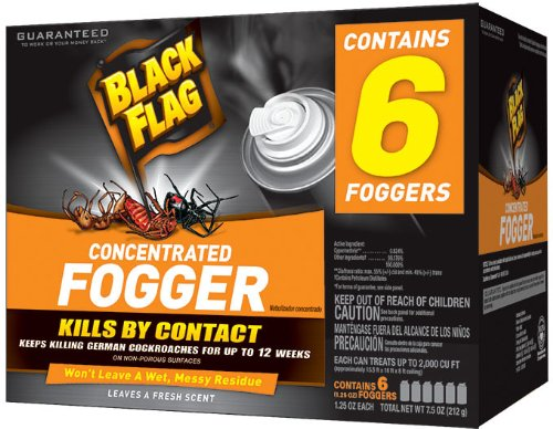 Black Flag HG-11037-1 Indoor Fogger, 1.25-Ounce, Pack of 6