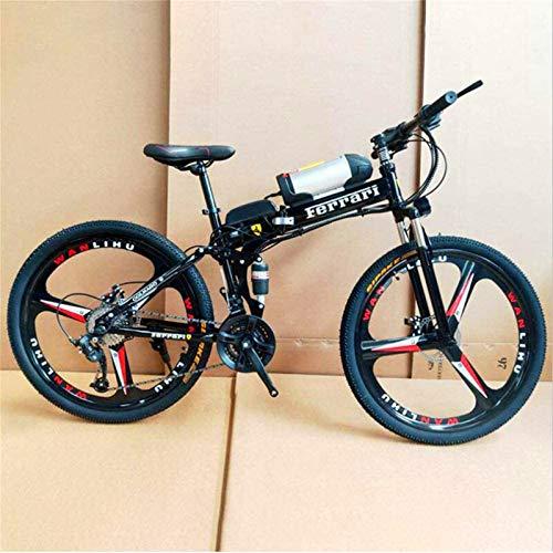 Bicicleta eléctrica de nieve, 26' Electric Off-Road Bike, 350W sin escobillas del motor de aleación de aluminio adultos Montaña Electric Bike 21 Velocidad extraíble 36V 10AH batería Frenos de doble di