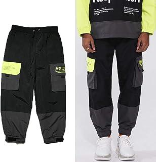 (ミシカ) MISHKA NYLON カーゴ ジョガーパンツ ブラック ライムグリーン 黒 緑 MSS200860M99 CARGO JOGER PANTS Black LimeGreen