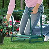 WWJJLL Garten Kneeler mit Griff, Edelstahl-Gartenstuhl Knieschützer mit Werkzeugseitentaschen, Garten Jäten und Pflanzen Kniend Hocker Hilfen verhindern Beinschmerzen