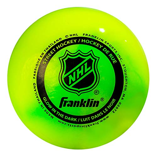 Franklin Sports NHL Street Hockey Ball, Glow in The Dark, Einheitsgröße