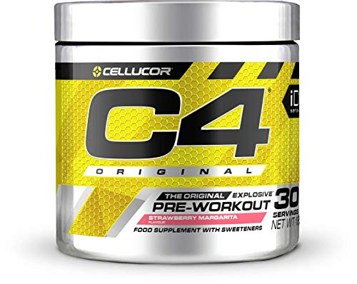 C4 Original - Suplemento en polvo para preentrenamiento - Margarita de fresa   Bebida energética para antes de entrenar   150mg de cafeína + beta alanina + monohidrato de creatina   30 racion