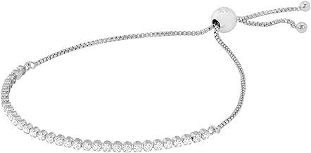 white gold leather bracelet