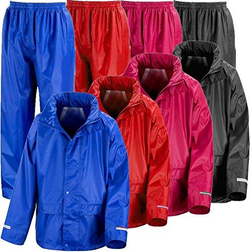 Rainsuit Shop Kids Waterproof Jacket and Trouser Suit Set Boys or Girls Pink