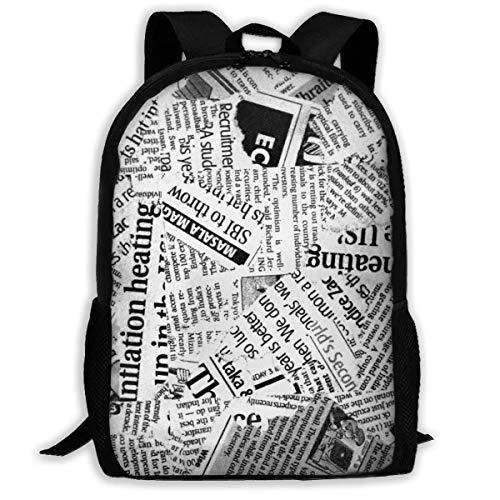 Bingyingne Mochila de viaje de alta calidad para adultos de papel de póster vintage, mochila resistente al agua para grandes negocios, colegio, escuela, mochila