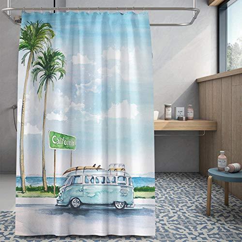 Vlejoy Home Gym Badezimmer Badezimmer Wasserdicht Duschvorhang Stoff Trennwand Vollständige Abdeckung Leicht Zu Reinigen-180 * 180cm