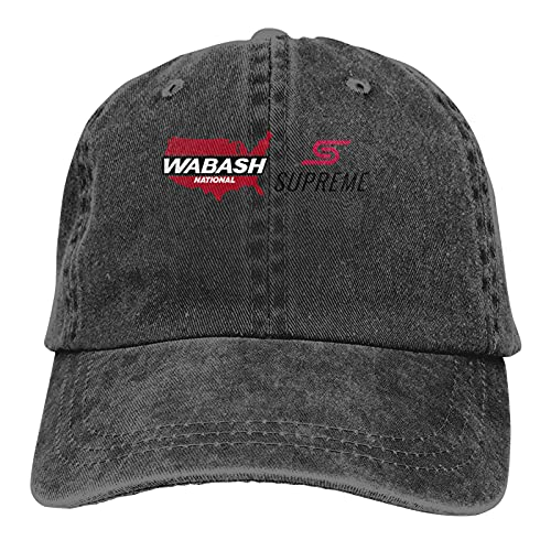 Wabash College Logo Classic Cowboy Hat Adjustable Baseball Cap Unisex Casual Sports Hat Black