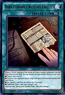 Yu-Gi-Oh! - Dark Contract with the Entities RATE-EN099 Ultra Rare 1st Edition - Raging Tempest