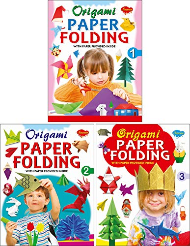 Set of 3 Origami Books (Orgami Paper Folding-1, 2, 3)