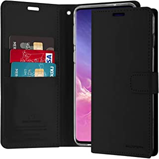 Goospery Blue Moon Wallet for Samsung Galaxy S10 Plus Case (2019) Leather Stand Flip Cover (Black) S10P-BLM-BLK