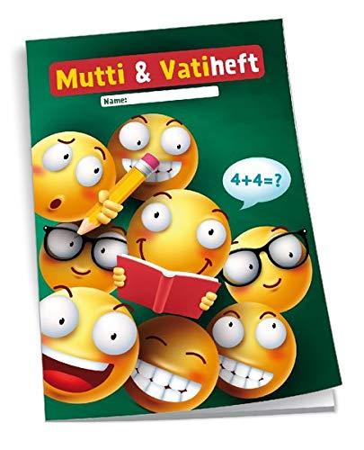 Trötsch Mutti und Vatiheft Smile School: A6, 48 Seiten liniert mit Klarsichtumschlag