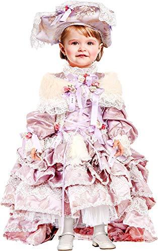 VENEZIANO Costume Carnevale da DUCHESSA di Francia NEONATA Vestito per neonata Bambina 0-3 Anni Travestimento Halloween Cosplay Festa Party 50793 2 Anni
