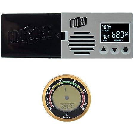 Cigar Oasis Ultra 3.0 Electronic Cigar Humidifier with Digital Analog Hygrometer Bundle