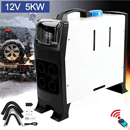 Triclicks Air Diesel Heizung Air Standheizung 5KW 12V Diesel Luftheizung Auto Heizung Lufterhitzer mit Fernbedienung LCD Monitor für RV, Boote, LKW, Wohnmobil Anhänger, Wohnmobile (Weiß Stil B)