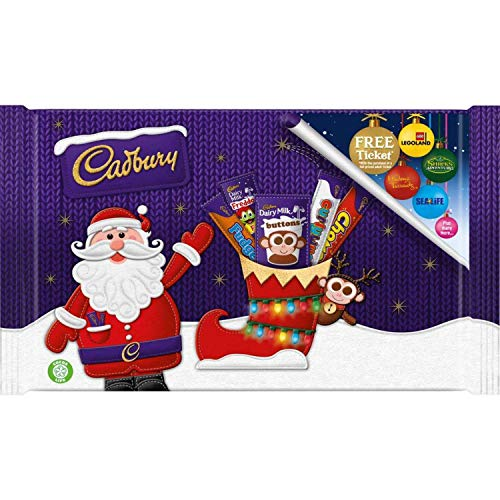 Chocolate Selection 89g, Have a Christmas Party with British Chocolate and Have a Truly Yummy time, Pack of 4