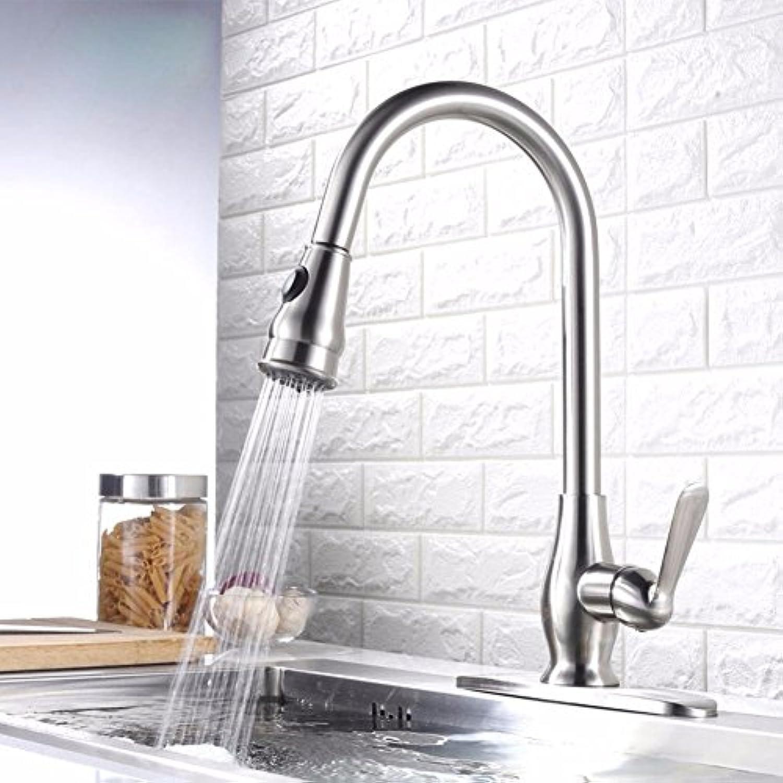 Bijjaladeva Wasserhahn Bad Wasserfall Mischbatterie Waschbecken WaschtischKüche Wasserhahn Messing Einloch Pull-Down Rotierende heie und Kalte Duplex Mischen Wasserhahn