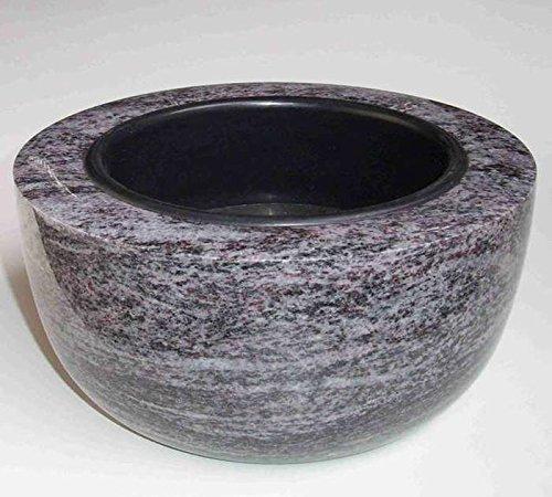 designgrab Boule Boule Vase fun/éraire en granit Orion Blue//Coromandel//Bahama Blue cimeti/ère Vase Pierre Tombale Boule Vase fun/éraire en rond