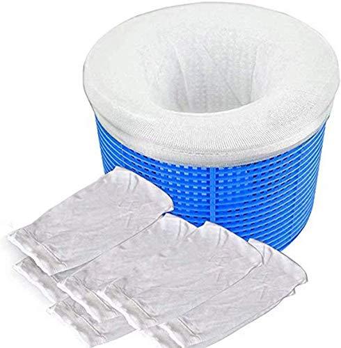Voarge Pool Skimmer calcetines, para filtro Skimmer cesta Ultrafina Mesh Screen Liner para piscina cesta Skimmer calcetines elimina hierba, hojas aceite, polen, insectos y pelo (5 unidades)
