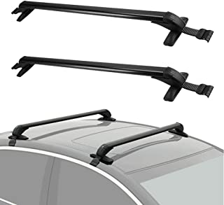 "LEDKINGDOMUS Adjustable Aluminum 43"" Roof Rack Cross Bar Car Vehicles SUVs Top Luggage Carrier Canoe Kayak Rack"