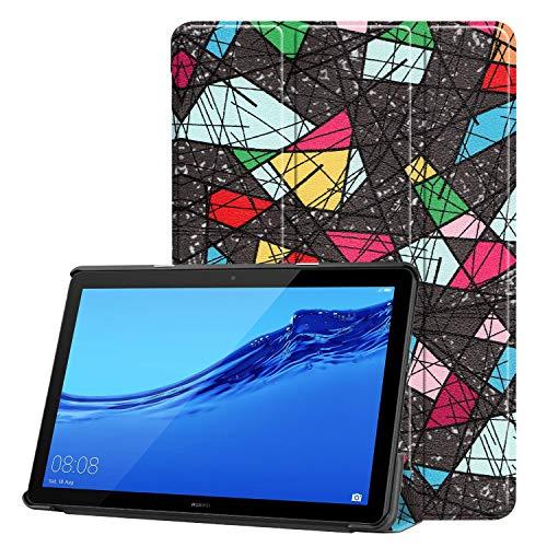 Aralinda Funda para tableta inteligente con soporte triple para Huawei Mediapad T5 10 de 10,1 pulgadas (2018)