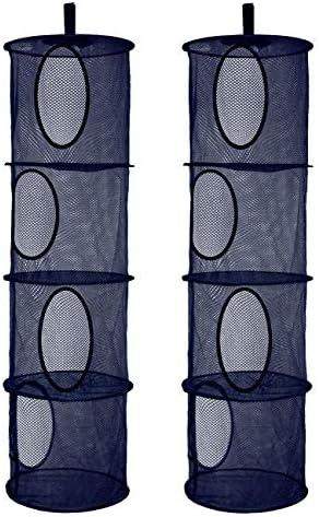 2Pcs Foldable Hanging Storage Mesh Space Saver Bags Organizer Foldable Suspension Storage 4 product image