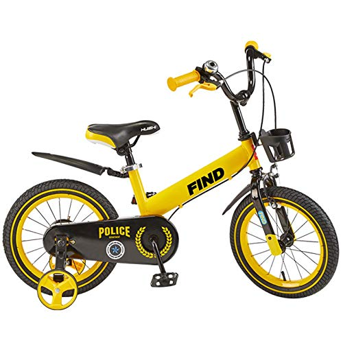 EDECO Boy's Girl'S Kids Bikes Bicicleta para niños, 14', 16' Mountain Bike con Entrenamiento Wheels,Balance Bicicletas para niños de 3 a 9 años,14Inch