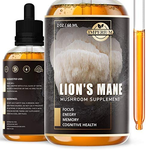 Lions Mane Mushroom Liquid Extract Everyday Focus Supplement and Brain Booster Drops Immune product image
