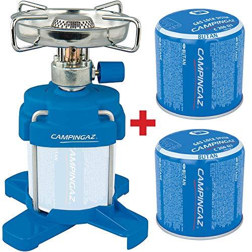 Bricolemar CAMPINGAZ - Set Cocina Camping Gas Bleuet 206 Plus + 2 Cartuchos...