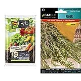 Compo universal para frutas, verduras, plantas aromáticas y de interior, Apto para agricultura ecológica, Substrato de cultivo, 5 L, 2468804011 + Semillas Batlle Aromáticas Romero