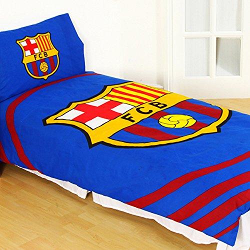 Official Barcelona FC 'Pulse' Single Duvet Cover and Pillowcase Set