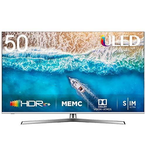 "HISENSE H50U7BE TV Smart TV ULED Ultra HD 4K 50"", Dolby Vision HDR, Dolby Atmos, Unibody Design, Ultra Dimming, Tuner DVB-T2/S2 HEVC Main10 [Esclusiva Amazon - 2019]"