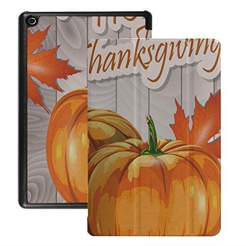Cover for Fire Hd 8 Tablet Thanksgiving Day Best Harvest Fire Hd Kindle 8 Case (2018 2017 2016 Release,8th/7th/6th Generation) with Auto Wake/Sleep