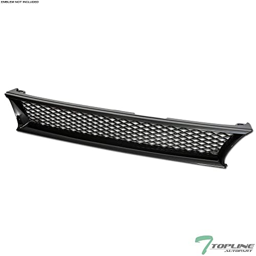 Topline Autopart Black Mesh Front Hood Bumper Grill Grille ABS For 93-97 Toyota Corolla