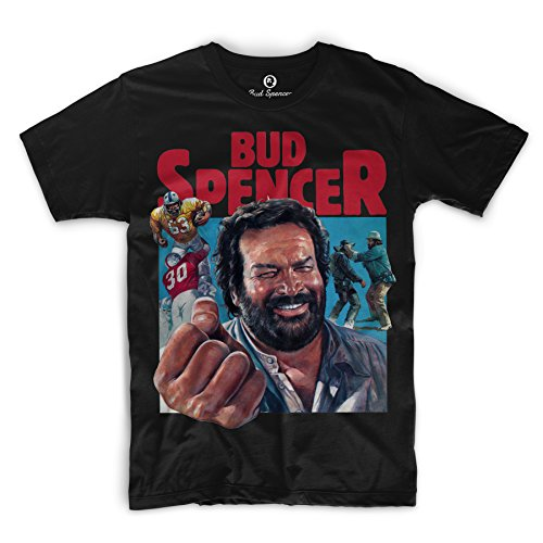 Bud Spencer - Comic Art - T-Shirt (schwarz) (L)