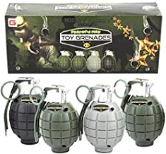 Mighty Gadget 4 Pack of Kids Toys Pretend Play Toy Grenades with Realistic Explosion Sound & Light ( Beautiful Gift Box Pa...