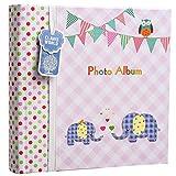 Apan Große Baby-Rosa- Memo Slip In Fotoalbum 200 6x4 '' Fotos - Elephant Kinder -Ideale Geschenk