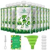 Coffret de 10 Gourdes Réutilisables 150 ml - Gourde Compote Reutilisable - Facile à Remplir et à Nettoyer - The Bamboo Family
