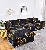 Fundas de sofá elásticas Impresas para Sala de Estar Funda de sofá Esquina en Forma de L Chaise Longue Sillón Sofá Funda A18 2 plazas