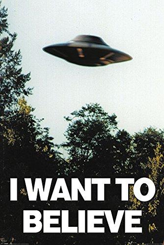 X-Files - I Want To Believe - UFO - Filmposter Kino Movie x-files Science Fiction Sci Fi 61x91,5 cm + 1 Ü-Poster der Grösse 61x91,5cm